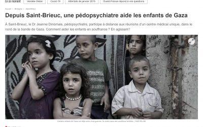 Depuis Saint-Brieuc, une pédopsychiatre aide les enfants de Gaza